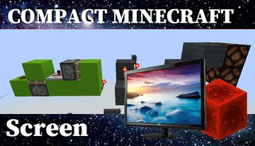 Compact Screen - Redstone - All version Minecraft Map & Project