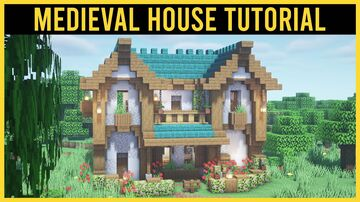 ⚒️ Minecraft: Medieval House With Interior | Tutorial Minecraft Map & Project