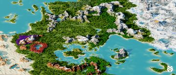 7500 x 7500 Beautiful Terrain Minecraft Map & Project