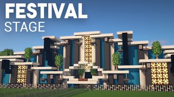 Festival Stage Minecraft Minecraft Map & Project