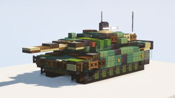 Stridsvagn 122 (strv 122) Swedish Leopard 2 Main Battle Tank - 1.5:1 scale Minecraft Map & Project
