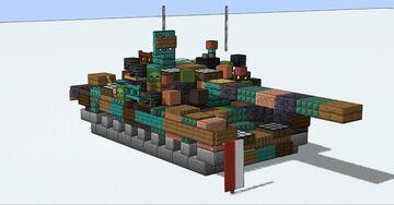 "PT-91 ""Twardy"" Polish T-72 Minecraft Map & Project"