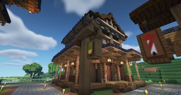 Japanese Cactus Shop (with farm) Minecraft Map & Project