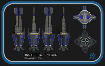 UNN Orbital Railgun || The Expanse Full Interior (1:1) Build Minecraft Map & Project