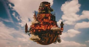 Luberg Steampunk flying Castle Minecraft Map & Project