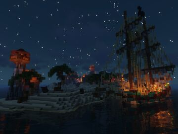 The buccaneer Isle Minecraft Map & Project
