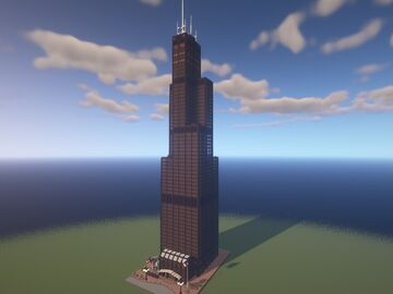 Willis Tower (Sears Tower) Chicago Minecraft Map & Project