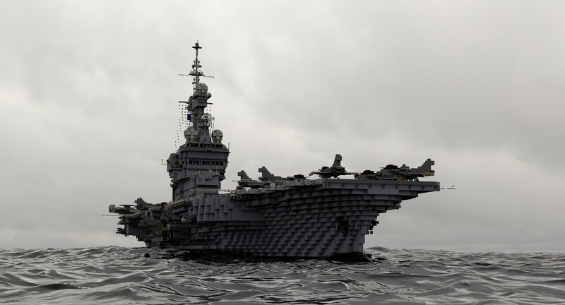 Charles de Gaulle R91 nuclear french aircraft carrier - [1:1]