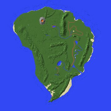 Isla Nublar 2015 with Camp Cretaceous Locations Minecraft Map & Project