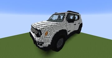 Jeep Renegade 80th Anniversary (1:1 Real Life Size) Minecraft Map & Project