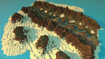 Desert Valley [3000x3000] - Custom Worldpainter Desert Island - 1.16.5 Minecraft Map & Project