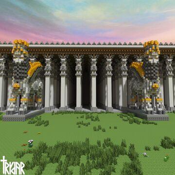 A piece of Persepolis +Lamassu Statue tutorial Minecraft Map & Project