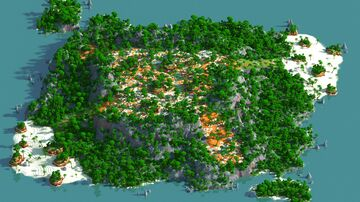 Jungle Middle - 1500x1500 | WarZone Map 1.12 - 1.16 | Bedrock support Minecraft Map & Project