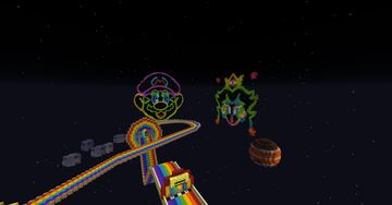 N64 Rainbow Road Revamped (Download) Minecraft Map & Project