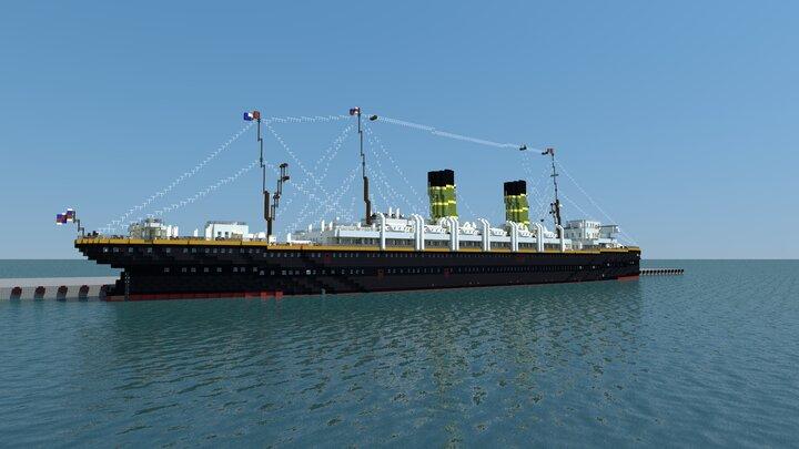 RMS Teutania at port