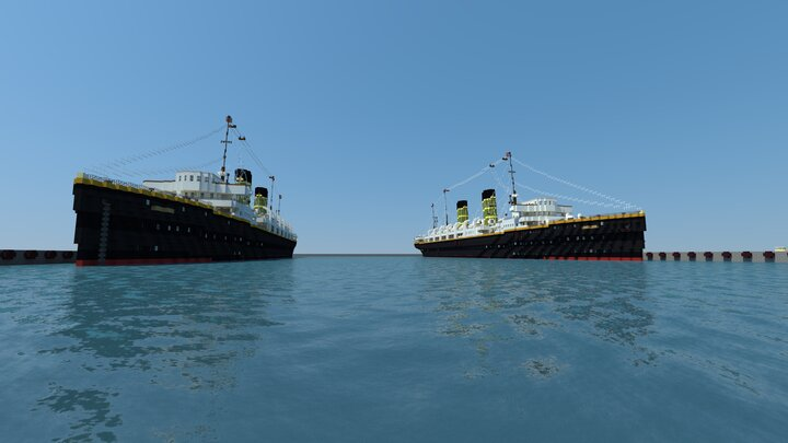RMS Journalia left and RMS Audania right