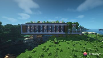 Modern Bridge House With Interior [Download] Minecraft Map & Project