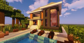 Modern House #114  (Map + Schematic) Minecraft Map & Project
