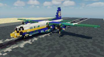 "C-130T ""Fat Albert"" - 1.5:1 Scale Minecraft Map & Project"
