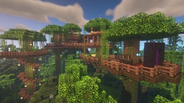 Jungle Treehouse Starter Base Minecraft Map & Project