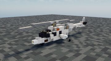 Bell 222 - 1.5:1 Scale Minecraft Map & Project