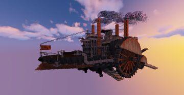 Steampunk/Dieselpunk AIRSHIP Minecraft Map & Project