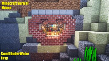Minecraft Simple UnderWater House Survival - Tutorial Minecraft Map & Project