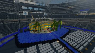 WWE AT&T ARENA (concept) WITH PYRO Minecraft Map & Project
