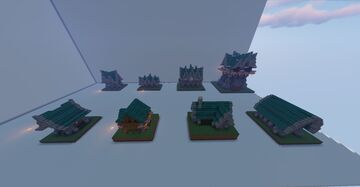 Warped Wood Roof House Pack Minecraft Map & Project