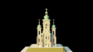 Cathedral of the Transfiguration (1:1 Scale!) of Markham Ontario Minecraft Map & Project