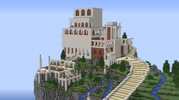 Villa Jovis. Ancient Roman Villa. Minecraft Map & Project