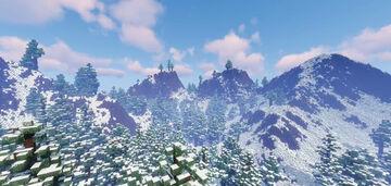 Winter Mountain Terrain Realistic Minecraft Map & Project