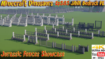 Jurassic Park Fences Jurassic World Fences and Jurassic Park Jurassic World Builds Minecraft Map & Project