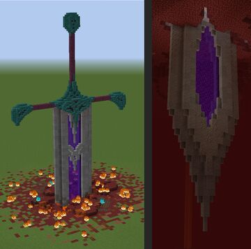 Nether portal sword Minecraft Map & Project