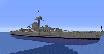 SMS Hamburg - Fictional WW1 German Pocket Battleship Minecraft Map & Project