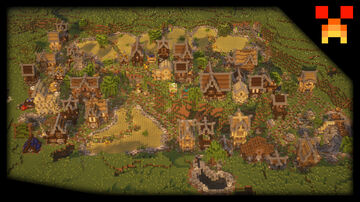 Medium Medieval Town | Download available Minecraft Map & Project