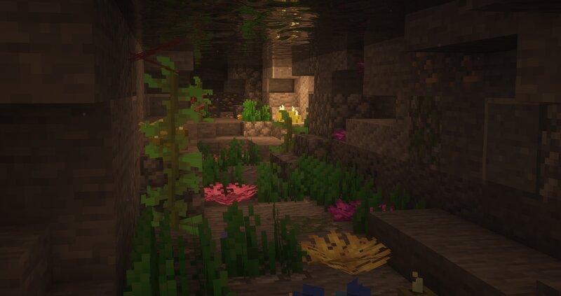 Terraformed cave system under the build...