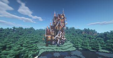 Alien Tower   Torre alienígena Minecraft Map & Project