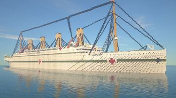 HMHS Britannic 1.8:1 Scale Minecraft Map & Project