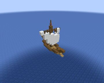 Ancient sailboat Minecraft Map & Project