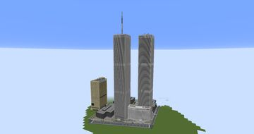 Old World Trade Center(1:1) + Timelapse Minecraft Map & Project