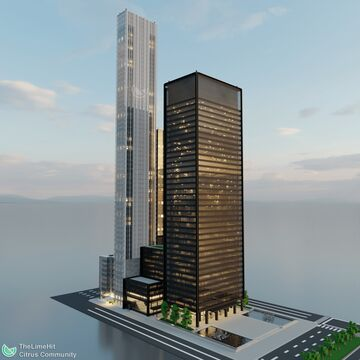 Seagram Building | New Limesville City | NL | UCS Minecraft Map & Project