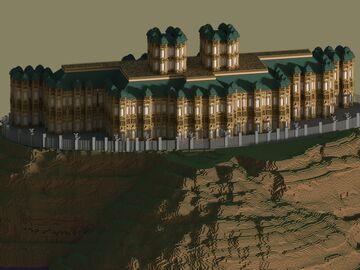 Batman Arkham Wayne Manor + Batcave %100 Finished Minecraft Map & Project