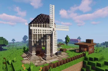 The Chesterton Windmill  (Chirk World) Minecraft Map & Project