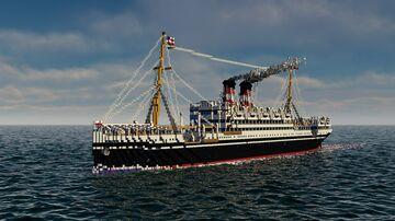 SS Martha Washington   Full Interior   + Download Minecraft Map & Project