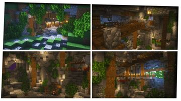 Simple Ultimate Survival Cave Base!! Minecraft Map & Project