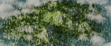 Jagged Cliff Forest - Free Map (1000x1000) Minecraft Map & Project