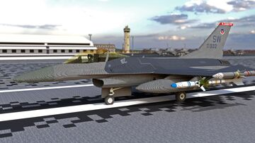 F-16 Fighting Falcon Minecraft Map & Project