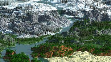Gukken - 8000x8000 | 1.12 - 1.17+ |  Landscape & Survival Map | Dungeon & Custom сave | Bedrock Support Minecraft Map & Project