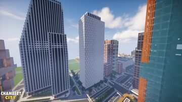 Jacob K. Javits Federal Building from downtown New York in Chambert city Minecraft Map & Project